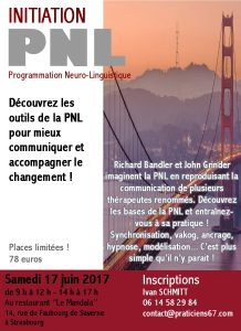 Inscription à la prochaine formation PNL (Programmation Neuro-Linguisitique)
